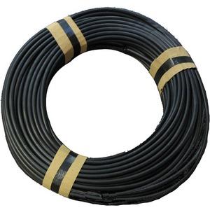 Weich PVC Isolierschlauch 1.0 mm x 0.4 mm schwarz