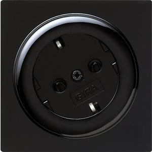SCHUKO-Steckdose 30 Grad für S-Color schwarz