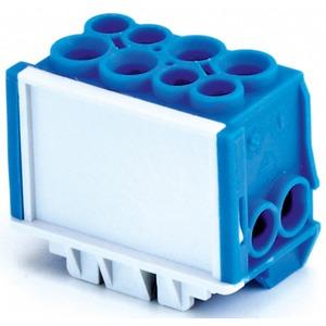 Hauptleiteranschlussklemme 1-pol. 2x 35mm² + 2x 25mm² berührungssicher blau