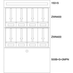 Aufputz-Zählerverteiler BL BP-O-BN-1000/15-8Z