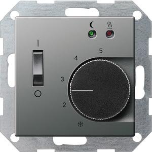 Gira RTR 230V mit Sensor Fußbodenheizung für E22 Edelstahl für