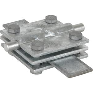 Kreuzstück NIRO Rd. 7-10Rd./Fl. 7-10/30-40 mm Fl./Fl. 30-40/30-40mm