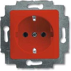 Unterputz Steckdose mit 50x50mm Abdeckung Reflex SI rot RAL 3020