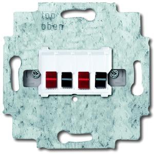Unterputz Einsatz Lautsprecher-Anschlussdose 2-fach alpinweiß