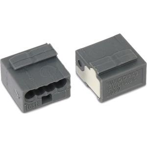 MICRO-Verbindungsdosenklemme 4-Leiter-Klemme 4-polig dunkelgrau