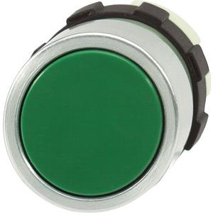 Drucktaste grün mit Frontring alufarben