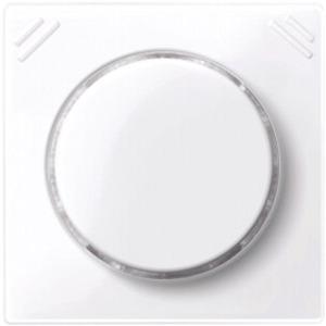 Zentralplatte f. Komfort-Drehregler aktivweiß glänzend